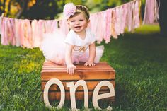 First Birthday Outfit Girl Baby Tutu Dress Set Baby 1st Birthday Outfit Girl, 1st Birthday Photoshoot, 1st Birthday Cake Smash, Baby Girl First Birthday, First Birthday Outfits, Birthday Gifts, Birthday Girl Pictures, First Birthday Photos, Birthday Photography