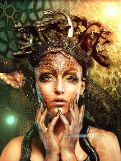 The Snake Queen. Credits on my DeviantArt page http://sprsprsdigitalart.deviantart.com/art/The-Snake-Queen-446822339