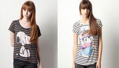 Camisetas con dibujos de Pull and Bear otoño-invierno 2012-2013