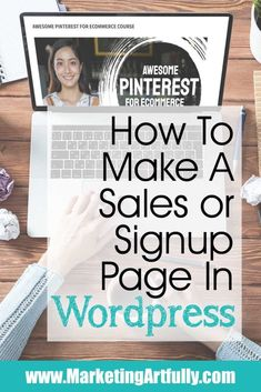 How To Make A Sales Or Email Landing Page In WordPress Online Marketing, Social Media Marketing, Marketing Strategies, Landing Page Inspiration, Website Services, Website Maintenance, How To Attract Customers, Estate Agents, Wordpress