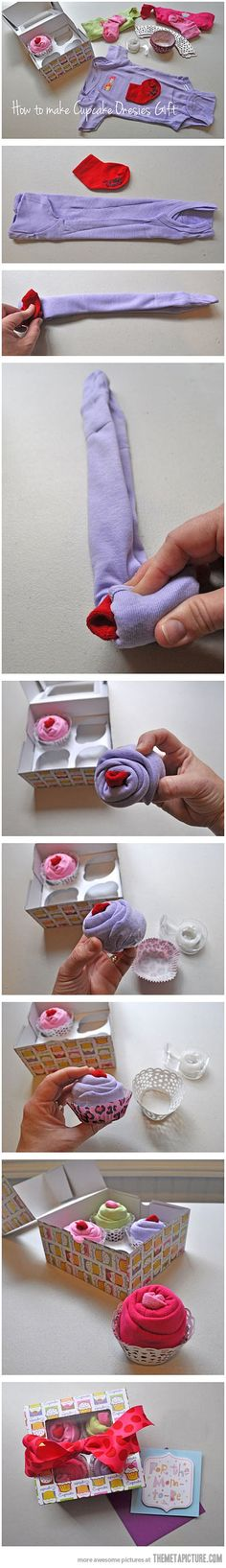 The best way to gift baby clothes... - The Meta Picture... This ones so cute, I'm waiting for someone to get pregnant just so I can give them this as a gift :)