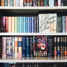 """apagewithaview:  """"Random partial shelfie because I'm in love with that new Narnia set from Juniper Books   """""""