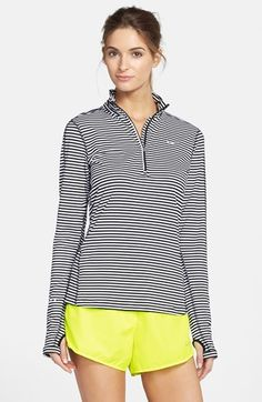 Nike 'Element' Stripe Half-Zip Top
