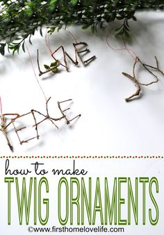 twig ornaments for tree, yule log, wreath or present-wrappings