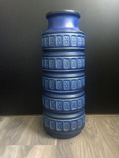 West German Pottery Scheurich Alaska Bodenvase Floor Vase Form 268-51 Blue 60s | eBay