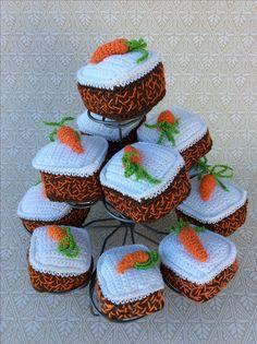 Crochet Cake, Crochet Fruit, Crochet Food, Cute Crochet, Crochet For Kids, Knit Crochet, Knitting Patterns, Crochet Patterns, Play Food