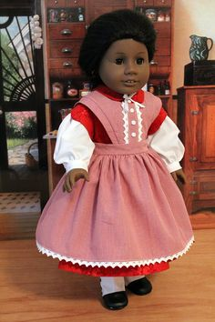 Civil War Dress and Apron for 18 inch Dolls like by BabiesArtUs, $85.00