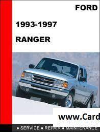 Ford Ranger 1993 1997 Service Repair Manual Pdf Ford Ranger Repair Manuals Ranger