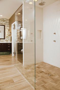 Bathroom shower doors are in the clear