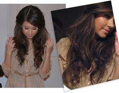 beautifully teased hair