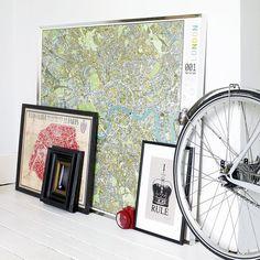 Travel-inspired living room http://www.futuremaps.co.uk/london-wall-map