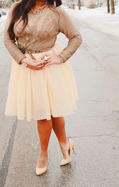 Tulle and gold - perfect for the ultimate pretty glam <3