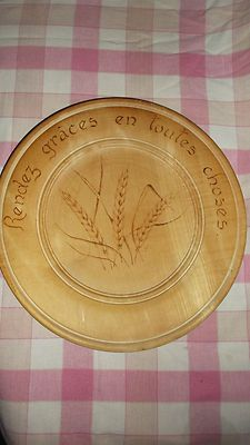 vintage french hand carved bread board!!