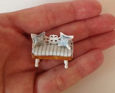 Miniature 1/4 1:48 Quarter Inch Scale Bench Seat Settle Garden Kitchen Dining Conservatory Cushion Furniture Room Doll House OOAK on Etsy, $30.11 CAD