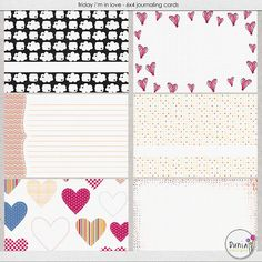 FREE Friday I:m in love journaling cards