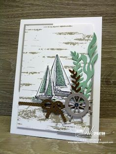 Nikki Spencer-My Sandbox: Colour INKspiration Masculine Birthday Cards, Birthday Cards For Men, Masculine Cards, Male Birthday, Nautical Cards, Nautical Theme, Beach Cards, Stamping Up Cards, Am Meer