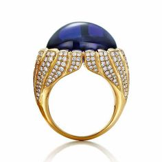 Tiffany & Co. ~ Tanzanite ring set with a 23.03ct tanzanite, diamonds and gold from the 2015 Blue Book Collection