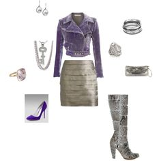 """Leavender and Silver"" by ionescu on Polyvore"