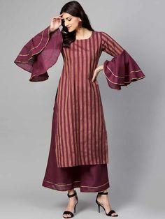 Simple Kurti Designs, Kurti Neck Designs, Kurta Designs Women, Kurti Designs Party Wear, Stylish Dress Designs, Latest Kurti Designs, Kurti Sleeves Design, Sleeves Designs For Dresses, Design Of Kurti