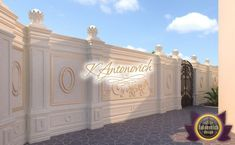 Original Landscape Design in Dubai by Luxury Antonovich Design House Floor Design, House Outside Design, House Gate Design, Village House Design, Door Gate Design, Bungalow House Design, Fence Wall Design, Front Wall Design, Exterior Wall Design