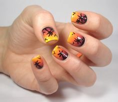 Coco's nails: A sunset ...  #nail #nails #nailsart
