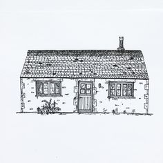 """50 Likes, 2 Comments - W.W. Pierce (@willustrating) on Instagram: """"Day 4. A bungalow in the Cotswolds.  #architectureillustration #drawing #draw #illustration…"""""""