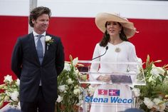 Crown Princess Mary christened the new tanker ship 'Stenaweco Impulse' today in Copenhagen