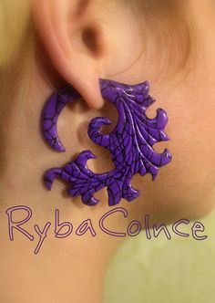 Fake ear gauge / Faux gauge/Gauge earrings / fake от RybaColnce