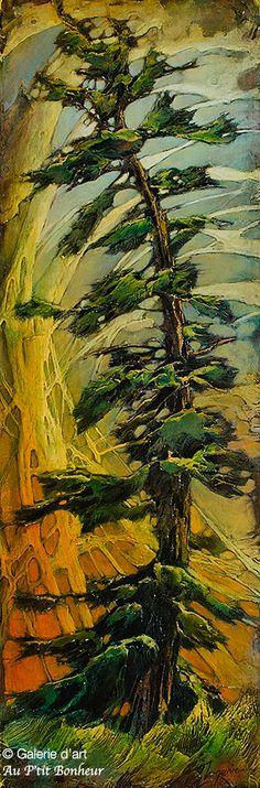 David Langevin, 'Sky Pattern', 12'' x 36''   Galerie d'art - Au P'tit Bonheur - Art Gallery