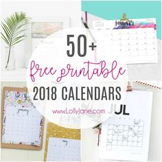 The ultimate roundup of 2018 calendar free printables! Free Printable Art, Free Printable Calendar, Free Printables, Monthly Calender, Diy Crafts For Adults, Diy Crafts To Sell, Planner Bullet Journal, Do It Yourself Crafts, Used Iphone