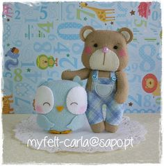 Friendship is. Sewing Crafts, Sewing Projects, Diy Projects, Scrap, Felt Dolls, Felt Crafts, Owl, Teddy Bear, Baby Shower