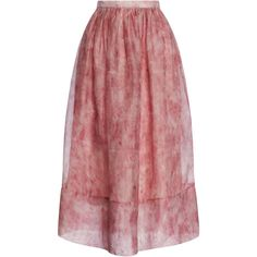 Whistles Vienna Flamingo Feather Full Skirt (2.085 BRL) ❤ liked on Polyvore featuring skirts, юбки, pink multi, pink skirt, transparent skirt, red full skirt, pink feather skirt and full skirts