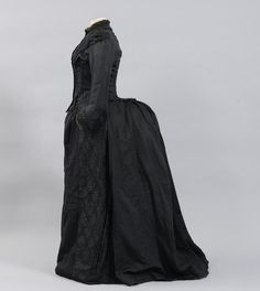 Fashion and Costume History     – fripperiesandfobs:   Dress, 1884-85  From the...