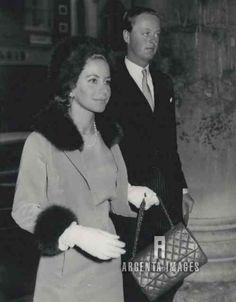 1961 Lord Blandford (later Duke of Marlborough) & Mrs Tina Onassis Arriving For Wedding - Argenta Images