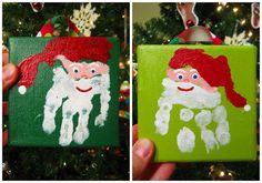 pen & paint: little Christmas hands and feet