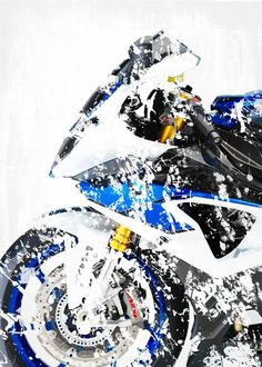 "Motorcycle Splatter Artwork BMW HP4 #Displate artwork by artist ""Steven"". Part of a 13-piece set featuring artwork based on popular motorcycles. £35 / $46 per poster (Regular size), £63 / $84 per poster (Regular size) #Motorcycle #Motorcycles #Motorbike #Motorbikes #Biker #Bikers #BMW #Buell #Ducati #Honda #Kawasaki #KTM #Suzuki #Triumph #Yamaha"