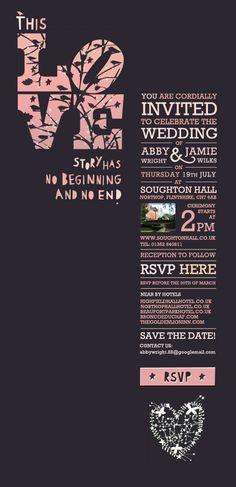 wedding E-vite by Rhiannon McGowan, via Behance