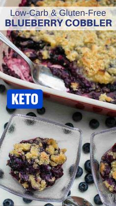 Low Carb Sweets, Low Carb Desserts, Gluten Free Desserts, Gluten Free Recipes, Low Carb Recipes, Gluten Free Blueberry Cobbler, Blueberry Recipes, Ketogenic Recipes, Sans Gluten