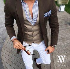 Such a dapper outfit. Mens Fashion Blog, Fashion Mode, Suit Fashion, Fashion 2018, Style Fashion, Fashion Ideas, Fashion Check, Fashion Tips, Trending Fashion