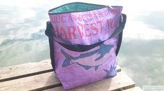 torebki z recyclingu - damskie-JULES - na ramię - fioletowy