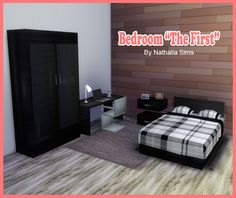 Sims 4 CC's - The Best: The First Bedroom Set by NathaliaSims