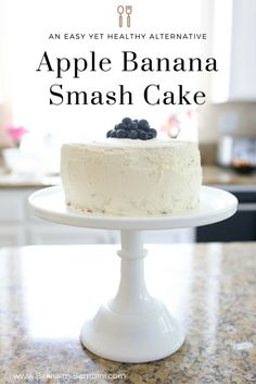 A healthier smash cake recipe made without butter or refined sugars