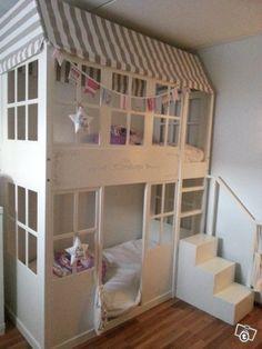 Kerrossänky Girl Bedroom Designs, Girls Bedroom, Olive Bedroom, Toddler Room Organization, Kids Room Design, Modern Room, Kid Beds, Kids House, Kids And Parenting