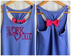 DIY so cute. It's like Snow White's workout tank.