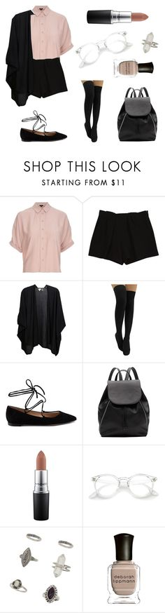 """""""Untitled #344"""" by fashion-with-dudette on Polyvore featuring Topshop, Chloé, Kinross, Gianvito Rossi, Witchery, MAC Cosmetics, Miss Selfridge and Deborah Lippmann"""
