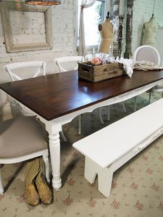 I got a VERY big break and will be redoing a farmhouse table and chairs for 8 in a similar style....for Savs most famous family  :))