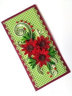 Quilling card/ Wedding card/ Mothers day card /Elegant card/ Romantic card/ Flowers card/ Unique handmade greeting card/