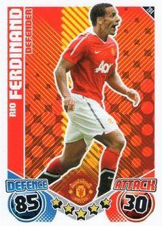 2010-11 Topps Premier League Match Attax #204 Rio Ferdinand Front