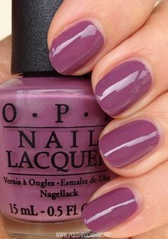 OPI I'm Feeling Sashy- click thru to see the rest of my favorite purple polishes Glam Nails, Opi Nails, Beauty Nails, Cute Nails, Pretty Nails, Perfect Nails, Gorgeous Nails, Opi Nail Colors, Manicure Y Pedicure