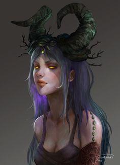 Devilia, Jowie Lim on ArtStation at https://www.artstation.com/artwork/r4vKm